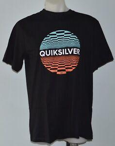 QUIKSILVER Mens Printed T Shirt - BLACK  - SIZE - S,M,L  & XXL - NEW