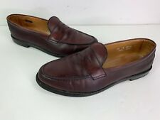 Allen Edmonds Cole Leather Penny Loafers Dress Shoes Brown Burgundy Men's 14 D