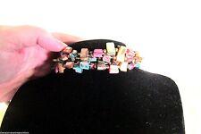 Fashion Jewelry Stretch Bracelet Jeweled Toned  New