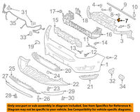 FORD OEM Front Bumper-Outer Support Left Only 7T4Z17C973A