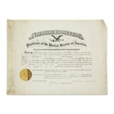 Theodore Roosevelt - Document Signed - Shortly Before Deciding Not To Rerun