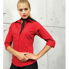 Cotton Blend Collared Blouses Formal Tops & Shirts for Women