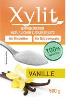 Xylit, Xylitol mit Vanillegeschmack 500 g, Birkenzucker, Zuckersatz, Süßstoff