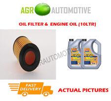 Gasolina Filtro De Aceite + ll 5W30 del aceite del motor para Mercedes-Benz R300 3.0 231BHP 2009 -