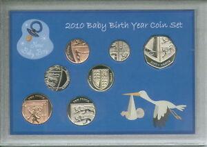 New Born Baby Boy Coin Gift Set 2010 (Parent Mum & Dad Birth Keepsake Present)