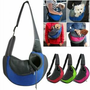Pet Sling Carrier Puppy Cat Dog Tote Mesh Bag Soft Comfort Shoulder Travel Pouch