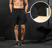 Men's Workout Running Shorts Gym Basketball Sports Pockets Spandex Breathable