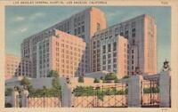 Postcard Los Angeles General Hospital Los Angeles CA