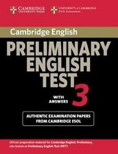 Cambridge Preliminary English Test 3 Student's Book with Answers: Examination...