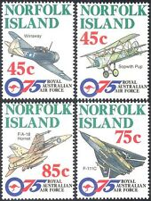 Norfolk Island 1996 RAAF/Planes/MIlitary/Aircraft/Transport/Aviation 4v n18050d
