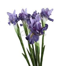 1Pcs Artificial Iris Flowers Bridal Bouquet Home Garden Vase Wedding Party Decor