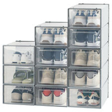 Stackable Shoe Box Drawer Thicken Plastic Shoes Container Home Storage Organizer