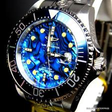 Mens Invicta Grand Diver Automatic Diamond Silver Steel Blue Abalone Watch New