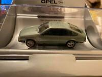 OPEL MONZA A in Metallic Green 1/43 scale dealer model by Schuco Vauxhall Royale