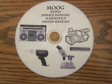 Moog Audio Repair Service owner manuals on 1 dvd in pdf format