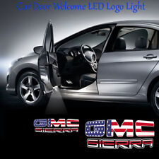 2x USA Style Logo Ghost Shadow Car Door LED Projector Lights for GMC SIERRA
