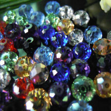 500 Faceted MIXED Rondelle Crystal Glass Beads 6x8mm