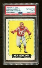 Nick Buoniconti Signed 1964 Topps #3 Autographed Patriots PSA/DNA