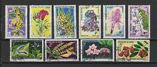 République du Congo années 70 fleurs 10 timbres oblitérés /T2401