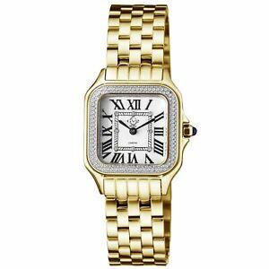 Gv2 By Gevril Women's 12102B Milan Diamond Gold IP Stainless Steel Watch