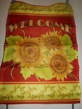 "Sunflower Welcome Garden Flag 12"" X 18"" *"