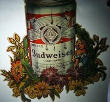 Vintage 1974  Budweiser Beer Can Iron-On Transfer Hippy Party Rare Photo lith