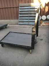 trolley steel flatbed 4 wheels solid