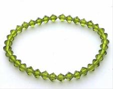 Olive Green Genuine Swarovski Elements Strech Bracelet
