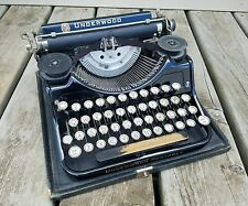 Vintage 1931 UNDERWOOD PORTABLE TYPEWRITER W/ Glass Keys & Orig Case..VERY NICE!