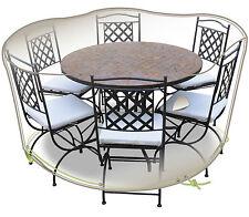 HOUSSE DE PROTECTION ELEGANCE POUR TABLE RONDE + CHAISES 6 PERSONNES