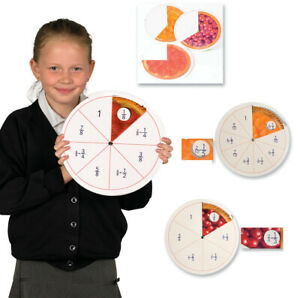 Eduk8 Fractions in Action Mathematics Tool Set of 3 - Visual Home Learning tool