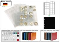 1 LOOK 1-7392 Münzhüllen PREMIUM 24 Fächer Für Münzen bis 34 mm + schwarze ZWL