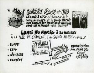 JC MENU CARTON INVITATION SOIRÉE ROCK ET BD LE LYNX À TIFS - MJC CHAVILLE