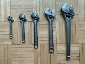 "LOT of 2 Crescent Adjustable Wrenches 15"" & 12"" & 10"" & 8""  & 6"""