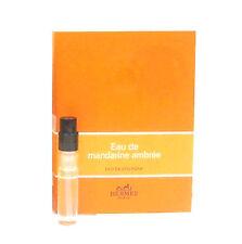 Eau de Mandarine Ambree HERMES Eau De Cologne UNISEX Sample Vial NEW w/Card C82