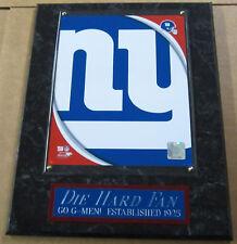 Die Hard Fan New York Giants Framed 8X10 Photo- Man Cave Art-12X15 Wall Plaque