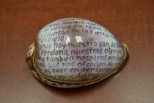 Spainsh Lord'S Prayer Hand Carved Cowrie Beach Decor #7026