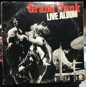 GRAND FUNK RAILROAD Live Album Released 1981 Vinyl/Record  Collection US pressed