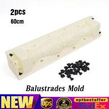 2 pcs 60cm Moulds Balustrades Mold DIY Concrete Plaster Cement Casting Mould Kit