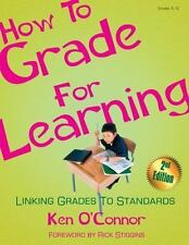 How to Grade for Learning: Linking Grades to Standards, , Very Good Books