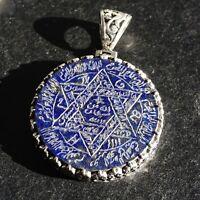 Seal of Solomon Pendant Lapis Lazuli Sterling Silver Talisman Amulet Handmade