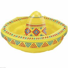 "19"" Wild West Mexican Fiesta Inflatable SOMBRERO Hat Drinks Cooler Decoration"