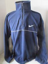 Vintage Dark Blue Nike Fleece Sweater Red Swoosh Logo Size Xl