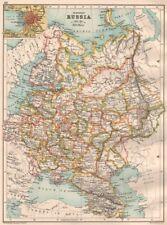 Russia EUROPEA. Inc. Caucasia Finlandia Baltici Polonia. INSERTO SAN PIETROBURGO 1891 Mappa