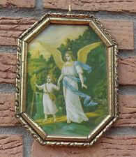 Kleines Heiligen Bild Engel mit Rahmen Kunstdruck 20,5 X 16 cm