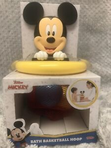Disney Mickey Mouse Baby Basketball Hoop Shoot and Store 3 Balls Bath Tub Toy