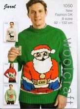Jarol 1050 Adult Christmas Jumper  DK  KNITTING PATTERN NEW Sizes 92-132cm