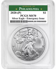 2020 (P) $1 American Silver Eagle Pcgs Ms70 Emergency Issue Philadelphia Label!