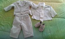 Vestito bambino battesimo usato velluto Bufi Made in Italy +scarpine