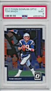 2017 Donruss Optic TOM BRADY #1 PSA9 MINT